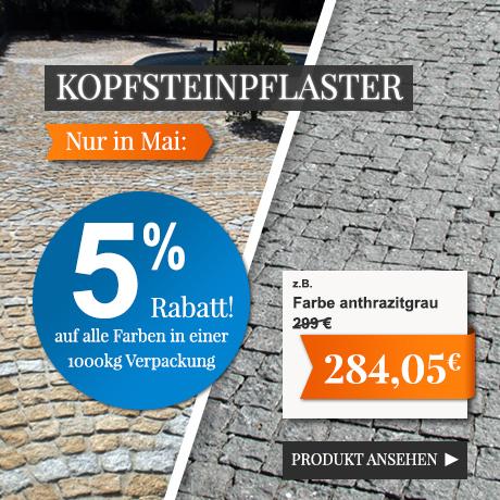 5% Rabatt auf Kopfsteinpflaster