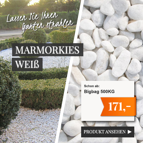 Marmorkies weiß