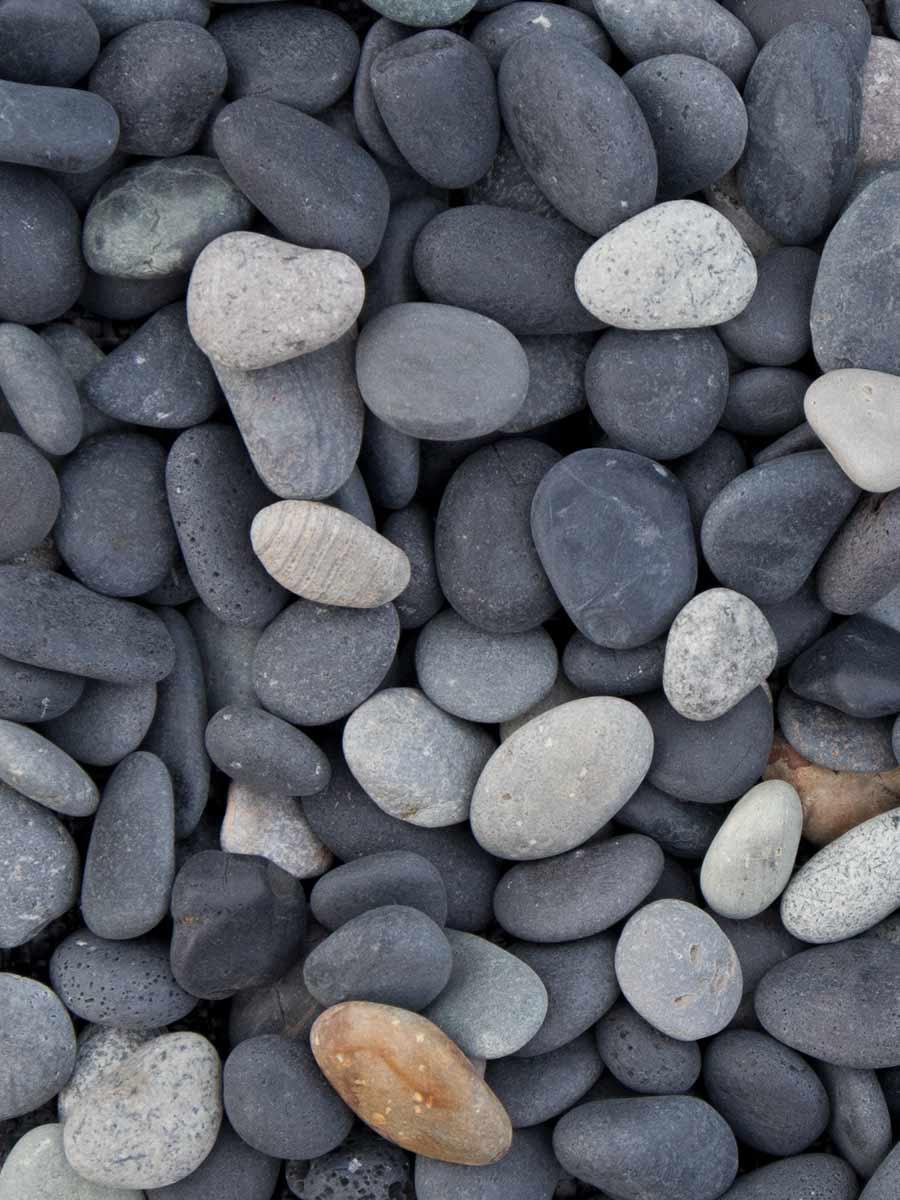Beach Pebbles Schwarz Kies
