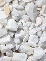 Marmorsplitt weiß 15 - 25mm