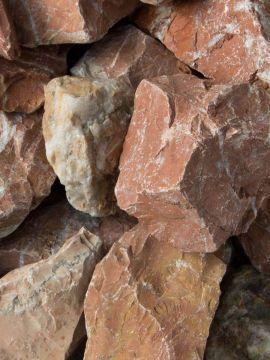 Marmor Rot Bruchsteine 40-80mm