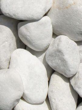 Marmor weiß Kies Gabionensteine 40 - 80mm