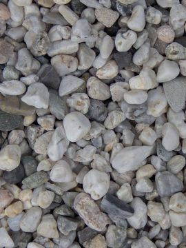 Quarzkies weiss grau 8 - 16mm