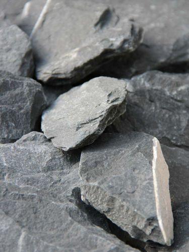 Canadian Slate Bruchsteine schwarz 60-180mm close