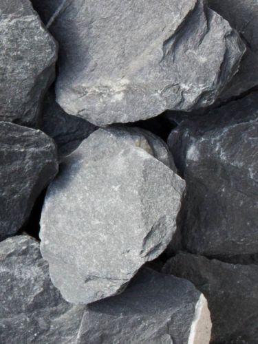 Canadian Slate Bruchsteine schwarz 60-180mm