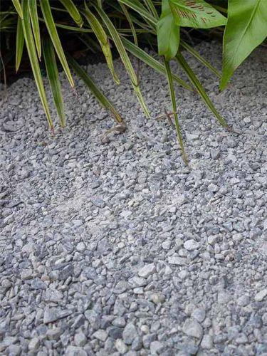 Dolomit Splitt Silver-Grey verlegt