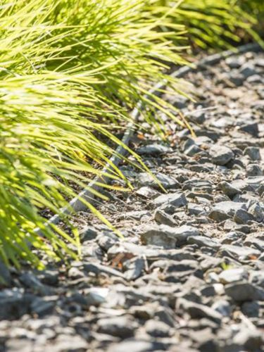 Ecolat verlegt grau aufgerollt, Pfähle sind unsichtbar