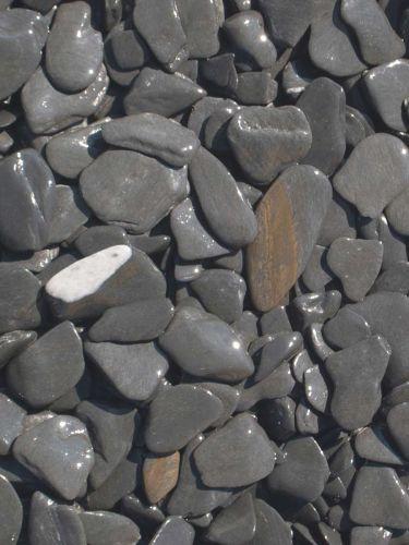 Flat Pebbles Schwarz 15-30mm naß
