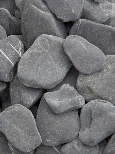 Flat Pebbles Schwarz 30-60mm