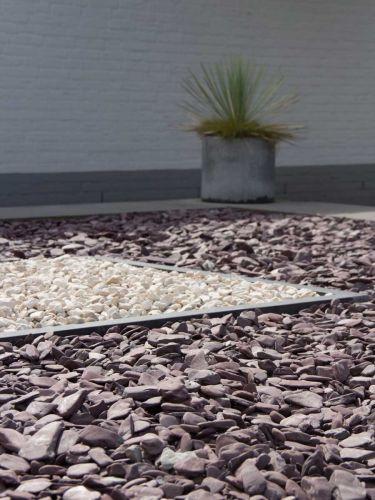 Flat Pebbles 30-60mm verlegt in Ziergarten