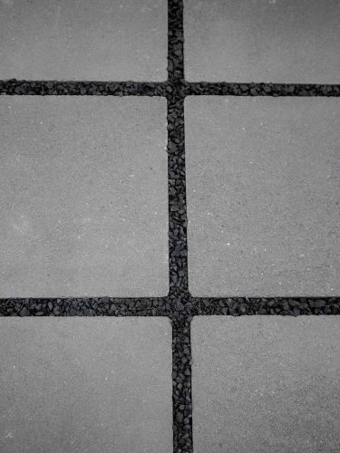 Fugensplitt Schwarz 2 - 5mm verlegt