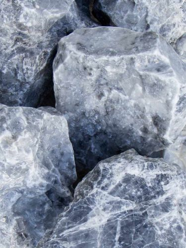 Ice Blue Bruchsteine 80 - 140mm naß