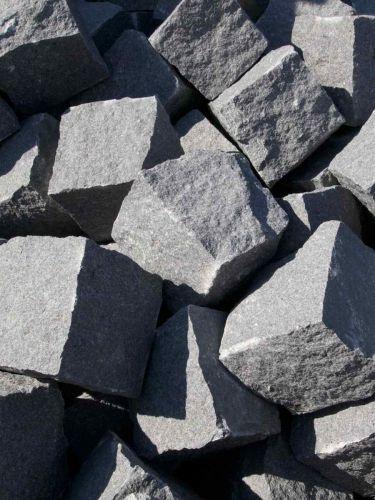 Kopfsteinpflaster Granit anthrazit 8 - 10