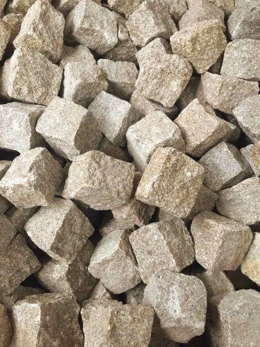 Kopfsteinpflaster Granit gelb trocken