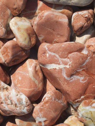 Marmor Rot Kies Gabionensteine 40-80mm naß