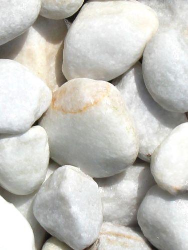 Marmor Kies weiß 40-60mm naß