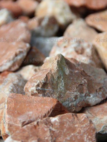 Marmor Rot Bruchsteine 40 - 80mm (close)