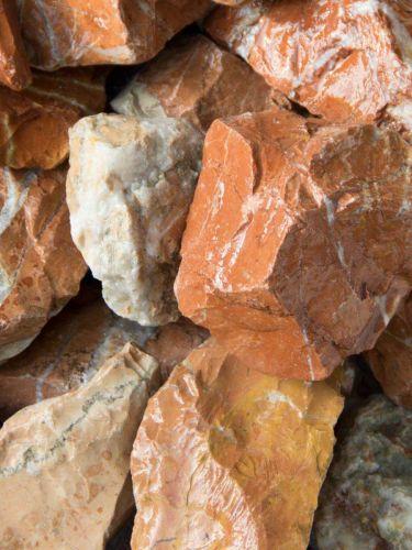 Marmor Rot Bruchsteine 40-80mm naß