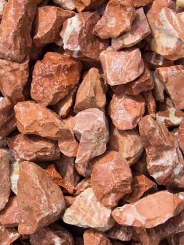 Marmor Splitt Rot 18 - 25mm naß
