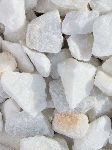 Marmorsplitt weiß 25-40mm