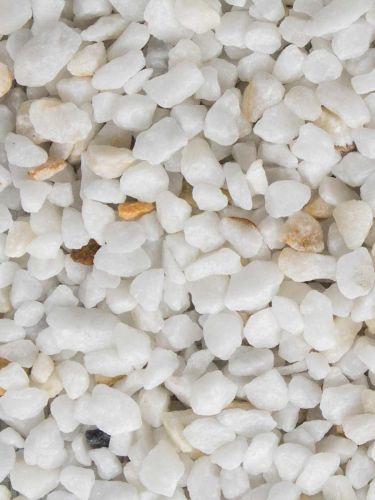 Marmorsplitt Weiß 9 - 12mm (nass)