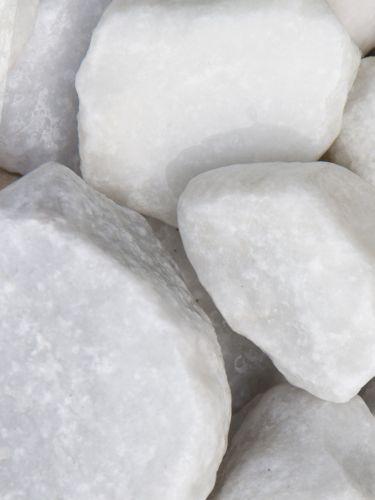 Marmor Weiß Bruchsteine 40 - 80mm (4 - 8cm) (naß)