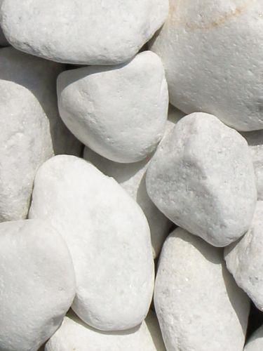 Marmor weiß Kies Gabionensteine 40 80mm