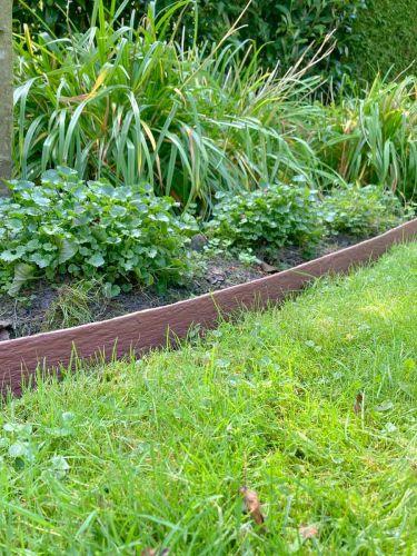 Multi-Edge Rasenkante ECO Rolle 10m Farbe Braun, 10cm Höhe verlegt