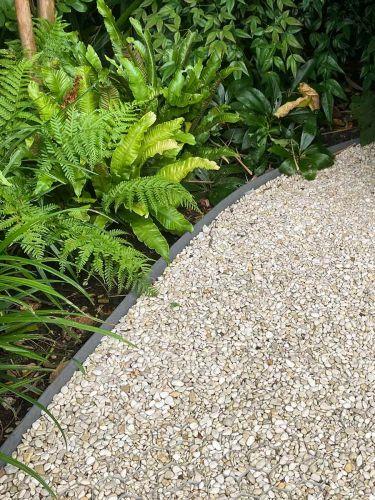 Multi-Edge Rasenkante ECO Rolle 10m Farbe Grau, 10cm Höhe verlegt