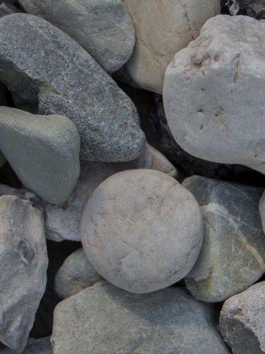 Quarz weiß-grau Gabionensteine 30 - 60mm (3 - 6cm)