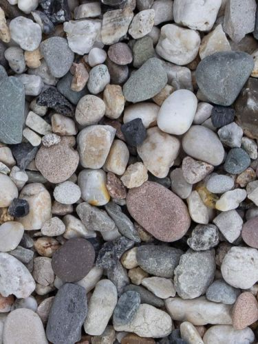 Quarzkies weiß-grau 8 - 16mm