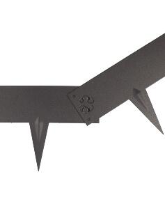 Rasenkante Multi-Edge Metal schwarz Kupplungssystem