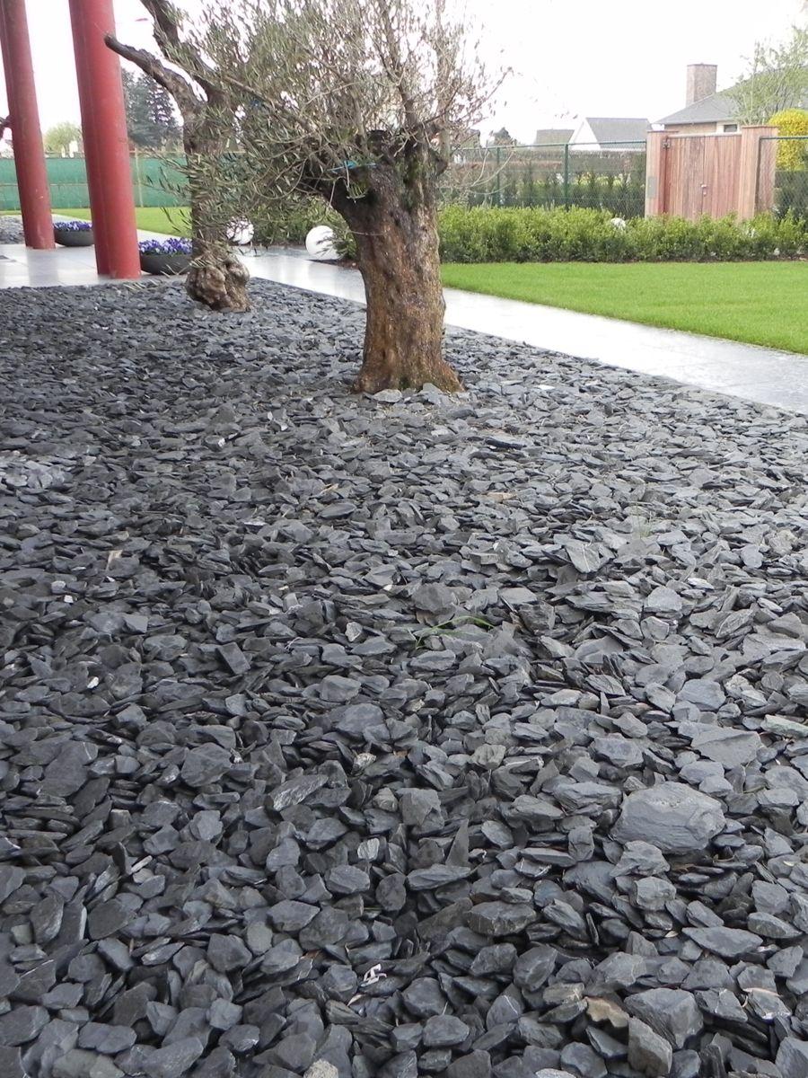 canadian slate schwarz bruchsteine verlegt